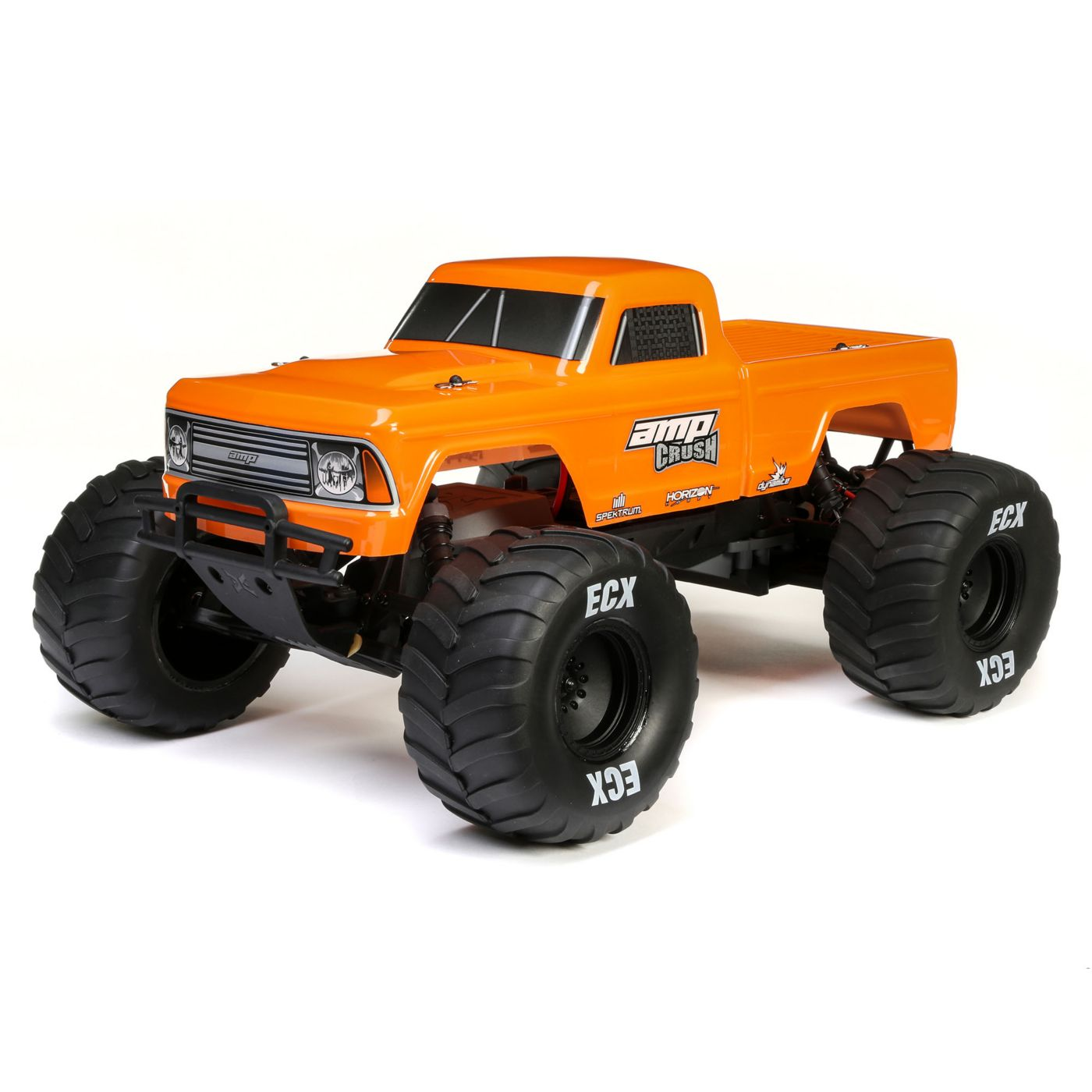 ECX03048T2 Orange 1/10 Amp Crush 2WD Monster Truck Brushed RTR (ECX) - $200 Value